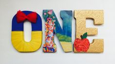 Snow White First Birthday Letters by ShopLiamSloane on Etsy