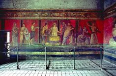 but before we end our trip, let's be sure to fit in a visit to Pompeii to see the Villa of the Mysteries! Ancient Rome, Ancient History, Mystery, Pompeii And Herculaneum, Roman History, Roman Art, Beautiful Villas, Roman Empire, Art And Architecture