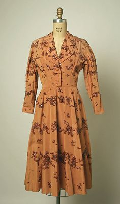 Dress House of Balenciaga (French, founded 1937) Designer: Cristobal Balenciaga (Spanish, 1895–1972) Date: 1949 Culture: French Medium: silk