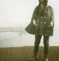 {Cape + Braids} and a Golden Gate bridge. Polaroid by hula seventy