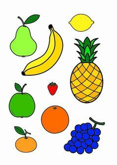 Afbeelding - prent fruit - Afb 23200 Fruit And Veg, Fruits And Vegetables, Vegetable Crafts, Fruit Coloring Pages, Fruit Crafts, Insect Crafts, Magic Crafts, Drawing Lessons For Kids, Barbie Food