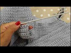"""TUTORIAL: Borsa """"Luna""""/ borsa uncinetto/by lafatatuttofare-Materiali www.tessiland.com - YouTube"""