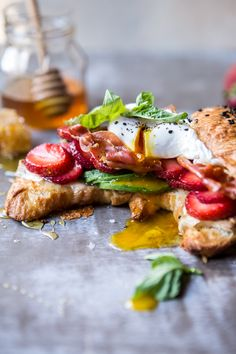 Making these strawberry, basil and crispy prosciutto breakfast sandwiches for the family this weekend.