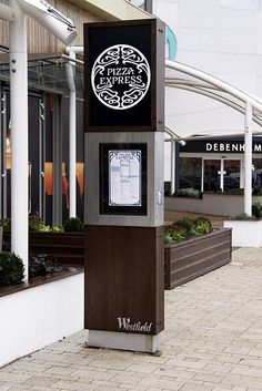 Westfield Merry Hill Eat Central Pizza Exspress Totem Signage - Hollywood…