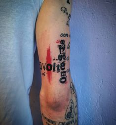 Photo by (orexdance95) on Instagram   #quotestattoo #letteringtattoo #trashpolkatattoo #armtattoo #inktattoo #istattoo #istattoo #inked #tattoos #skinart