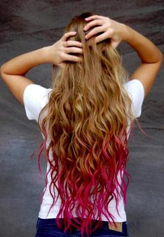 Pink Dipped Hair - Hairstyles and Beauty Tips