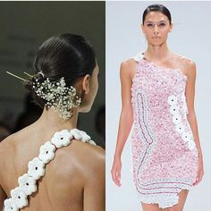 Did anyone spot our prints at this years #londonfashionweek last Saturday? Designer @sabinna_com utilised #3dprinting mixed with traditional clothing techniques. Our #CAD #designer @organic3d turned crochet flowers into printer versions.  #fashion #fashiondesigner #3dprinted #3dprintuk #lfw #catwalk #womenswear #flowers #london #londonfashion by 3dprintuk