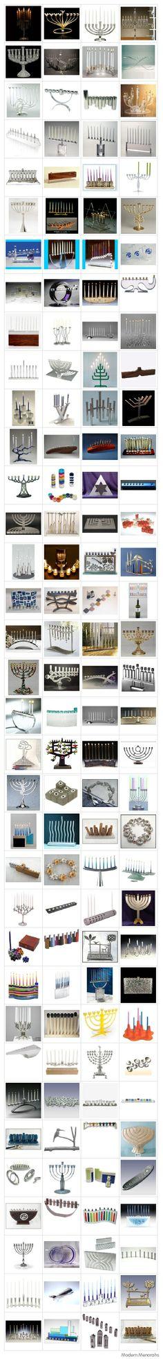 The Mongo Modern Menorah List: Over 140 Hip Chanukah Candelabras #menorah #modernmenorah #chanukah #hannuka