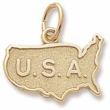 USA Charm $24.50 http://www.charmnjewelry.com/gold-charms.htm #TravelCharm