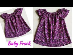 DIY Cute Baby Frock Cutting and Stitching|Designer Frill Neck Baby Frock Cutting and Stitching - YouTube Baby Frock Pattern, Frock Patterns, Kids Dress Patterns, Baby Clothes Patterns, Girls Frock Design, Baby Dress Design, Kids Frocks, Frocks For Girls, Fashion Sewing