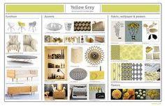 Great Interior Design Idea Board Yellow Grey Interior Design Presentation Board  And Mood Boards Home Plan View