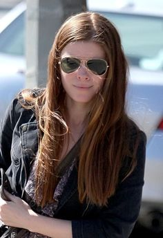 Kate Mara sports a casual, long hairstyle