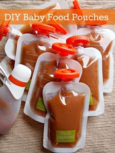 diy baby food pouches with fresh squeezed by infantino...save $$$ by making your own rather than buying the expensive store bought ones