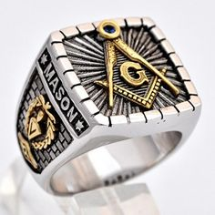 Silver Masonic Knight Templar Ring by Uniqable