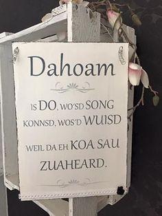 """Deko-Objekte - Shabby Holzschild """"Dahoam"""" - ein Designerstück von misska77 bei DaWanda"""
