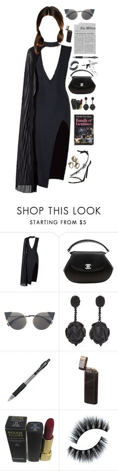 """♥No more sad songs♥"" by katherinethecat ❤ liked on Polyvore featuring Posh Girl, Chanel, Fendi, Oscar de la Renta, LBD, contestentry and chokerdress"