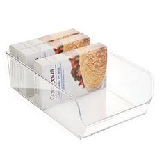 InterDesign Linus Aufbewahrungsbox Speisekammer-Organizer, 18 cm, transparent: Amazon.de: Küche & Haushalt