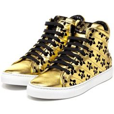 If I'm going to be caught dead in trainers then they'd better be gold and by Rupert Sanderson. The end.