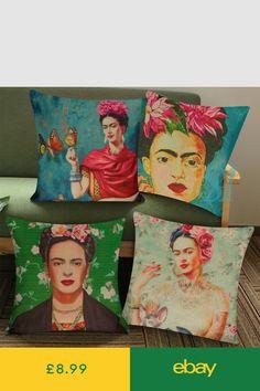 Portrait Frida Kahlo Throw Pillow Case Sofa Cushion Cover Home Decor UK