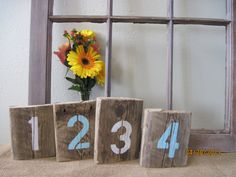 Reclaimed Table Numbers Wedding Rustic Barn Wood Board Decor Party Rustic Country on Etsy, $4.50