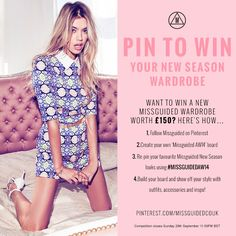 Want to #win a new #Missguided Wardrobe worth £150? You've got until the #competition closes on Sunday 28th September 11:59PM 2014 BST to enter – good luck!  SO WANT THIS!!!