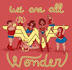 We Are All Wonder on Behance Rihanna, Beyonce, Nina Simone, Wonder Woman Art, Wonder Women, Girls Run The World, This Girl Can, Happy Women, Captain Marvel