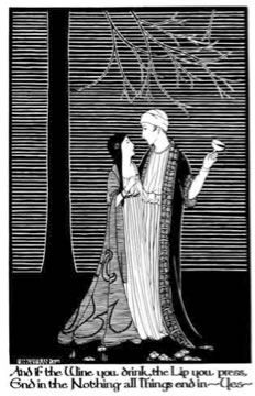 'And if the Wine', Hannah Frank (1928) Pen and ink 38.3 cm x 24.2 cm. Prints available for sale.
