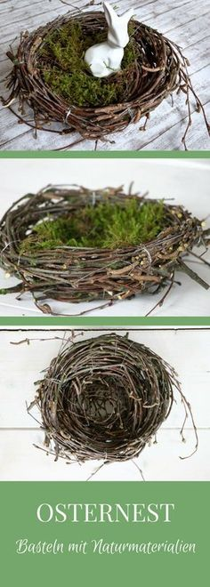 Craft Idea Easter: This Easter Nest made of birch rice is a beautiful Eastern …. – Craft Idea Easter: This Easter Nest made of birch rice is a beautiful Eastern …. Craft Idea Easter: This Easter Nest made of birch rice is a beautiful Eastern … , Easter Lamb, Easter Gift, Easter Eggs, Easter Table Decorations, Decoration Table, Spring Decorations, Basket Crafts, Pastel Decor, Easter Wreaths