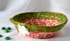 Wexford Treasures: Christmas Gift Basket, Handmade Red Holiday Bowl, Candy Dish, Christmas Red Ring Tray, Holiday Decoration, Stocking Stuffer by WexfordTreasures on Etsy