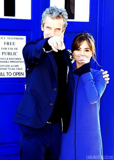 Jenna Coleman and Peter Capaldi in Sydney for the Doctor Who World Tour.