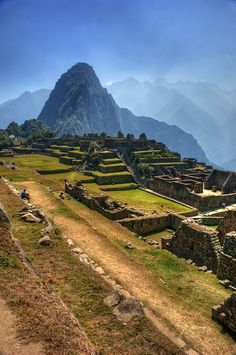 Machu Picchu, Peru. I want to go here and climb to the top just to scream!