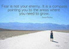Fear is not your enemy, it is a compass pointing you to the areas where you need to grow.  Face your fears & grow!