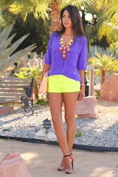 Purple + Neon = amazing