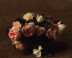 White Peonies and Roses, Narcissus - Henri Fantin-Latour - WikiArt.org