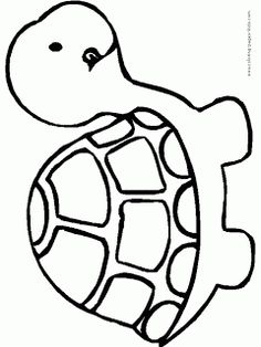Cartoon Turtle Coloring Pages - Cartoon Coloring Pages