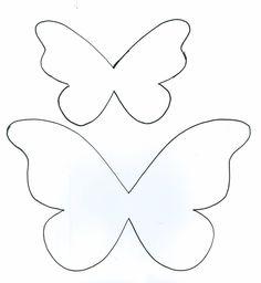 14 Melhores Imagens De Molde Borboleta Paper Butterflies