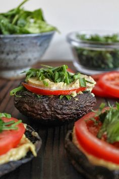 This Rawsome Vegan Life: PORTOBELLO MUSHROOM CASHEW CHEESE BURGERS (I have made this and it's sooooo good!  Watch out, the cashew cheese is tempting, and you might want to eat a lot.  It's something that should be used in small amounts)