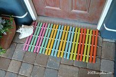 DIY Wood Doormat