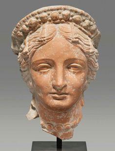 Ceramic head of Aphrodite. Hellenistic. Black Sea Region, c. 3rd-1st century B.C. | Phoenix Ancient Art Gallery