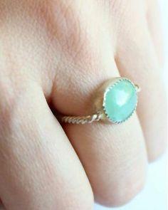 Aventurine Ring in Minty Sage