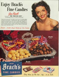 Jane Russell - Brach's Fine Candy ad, 1954