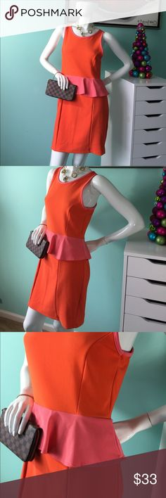 🆕 Teen vogue XL dress Gorgeous orange & pink style lad dress. Great amount of stretch. Gently worn. No imperfections. Measurements in pics. This could kick of your spring time fun 💃🏽 teen vogue Dresses