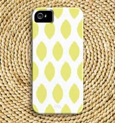 """Simple Ikat BarelyThere iPhone 5 Case in """"Lemonade"""" yellow, In Stock & Ready to Ship by ChristineMarieB, $37.50"""