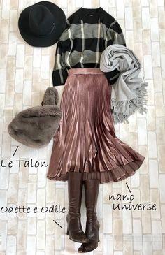 コスパで厳選、冬の最強着回し5点はすべて3,990円 | ファッション誌Marisol(マリソル) ONLINE 40代をもっとキレイに。女っぷり上々! Fashion Dresses, Women's Fashion, Japanese Fashion, Casual Chic, Feel Good, Midi Skirt, Cool Outfits, Autumn Fashion, My Favorite Things