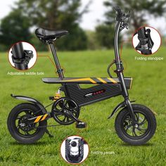 Electric E Bike 18650 Battery Motor Pedal Assist Folding Bicycle Ebike Best Electric Bikes, Electric Bicycle, Electric Power, Electric Scooter, Folding Bicycle, Bicycle Seats, Foldable Electric Bike, Bike Shipping, Trial Bike