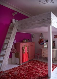 Bed space! (Obviously for when the kid is older) Yes, it's cool...and there's already a vaulted ceiling in their future bedroom. hmmmm.....
