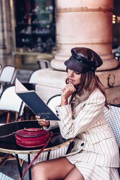 Isabel Marant suit + leather hat