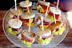 petits sandwich au jambon de Bayonne recette Cas, Sandwiches, French Bistro, Caramel Apples, Hot Dog, Finger Foods, Baguette, Kids Meals, Bagel