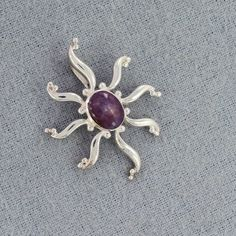 Natural Oval Sun Shape Cab Star Ruby Gemstone 925 Sterling Silver Pendant, Handmade Unique Gift Jewelry