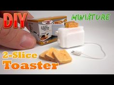 DIY Miniature 2-Slice Toaster with box ● No Polymer Clay! - YouTube